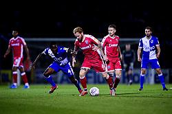 Abu Ogogo of Bristol Rovers challenges Connor Ogilvie of Gillingham - Mandatory by-line: Ryan Hiscott/JMP - 17/09/2019 - FOOTBALL - Memorial Stadium - Bristol, England - Bristol Rovers v Gillingham - Sky Bet League One