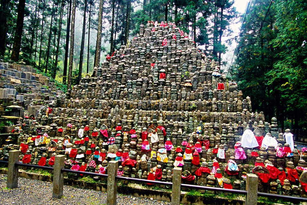 Jiso statues, Okuno-in (Memorial Park) on Koyasan (Mt. Koya), Wakayama Prefecture, Japan