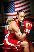 6/24/11 2:43:28 PM -- Colorado Springs, CO. -- A portrait of U.S. Olympic lightweight boxer Queen Underwood, 27, of Seattle, Wash. who will be competing for her fifth title. She began boxing in 2003 and was the 2009 Continental Champion and the 2010 USA Boxing National Champion. She is considered a likely favorite to medal at the 2012 Summer Olympics in London as women's boxing makes its debut as an Olympic sport. -- ...Photo by Marc Piscotty, Freelance.