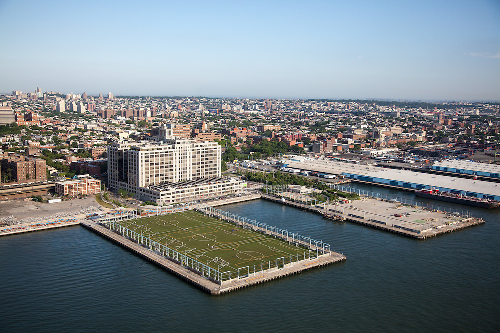 Piers 4 and 5 of Brooklyn Bridge Park, designed by Michael Van Valkenburgh Associates
