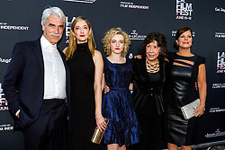 LOS ANGELES, CA - JUNE 10: Sam Elliot, Judy Greer, Julia Garner, Lily Tomlin and Marcia Gay Harden attend the opening night premiere of 'Grandma' during the 2015 Los Angeles Film Festival at Regal Cinemas L.A. Live on June 10, 2015. Byline, credit, TV usage, web usage or linkback must read SILVEXPHOTO.COM. Failure to byline correctly will incur double the agreed fee. Tel: +1 714 504 6870.