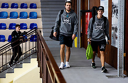 Anze Kopitar and Luka Dolar after the practice at Hockey Academy of Anze Kopitar and Tomaz Razingar, on July 9, 2019 in Ice Hockey arena Bled, Slovenia. Photo by Vid Ponikvar / Sportida