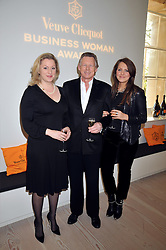 Left to right, SOPHIE DE SCHWARZBURG-GUNTHER, JOHN STEPHEN and VERONICA VORONINA at the presentation of the Veuve Clicquot Business Woman Award 2009 hosted by Graham Boyes MD Moet Hennessy UK and presented by Sir Trevor Macdonald at The Saatchi Gallery, Duke of York's Square, Kings Road, London SW1 on 28th April 2009.