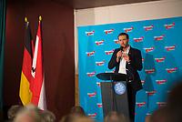 DEU, Deutschland, Germany, Hönow bei Berlin, 09.09.2017: Thorsten Weiß, Vorsitzender Junge Alternative Berlin, bei einer Wahlveranstaltung der Partei Alternative für Deutschland (AfD) im Restaurant Mittelpunkt der Erde.