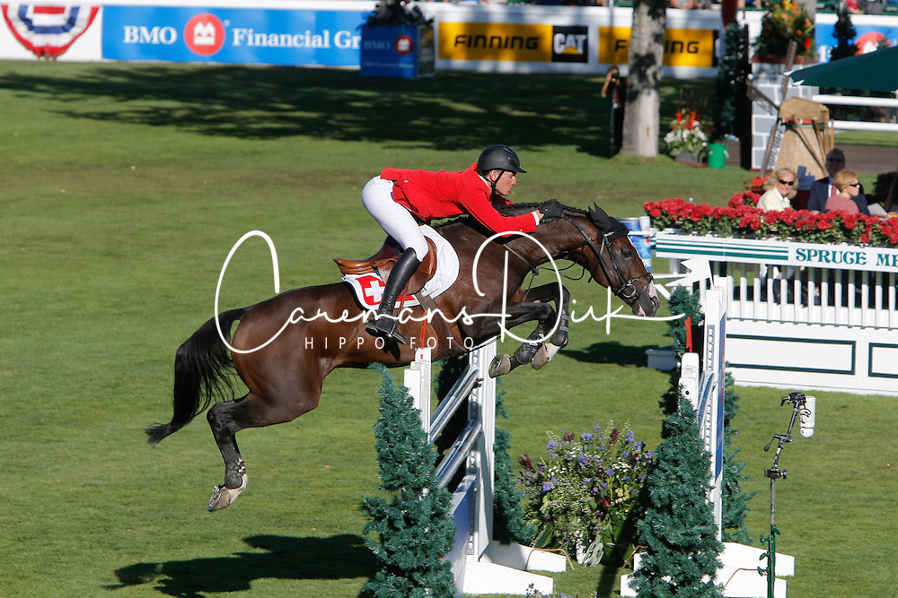 Guerdat Steve (SUI) - Tresor V<br /> BMO Nations Cup<br /> Spruce Meadows Masters - Calgary 2009<br /> © Dirk Caremans