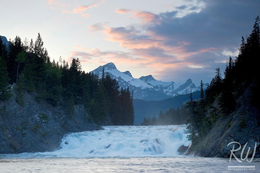 Bow Falls at Sunset, Banff National Park, Alberta, Canada