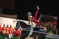 Elisabeth Bieri, (SUI), Rocky xxxviii CH, Corinne Stump - Individuals Women Technical Vaulting - Alltech FEI World Equestrian Games&trade; 2014 - Normandy, France.<br /> &copy; Hippo Foto Team - Jon Stroud<br /> 04/09/2014