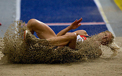 Bianca Kappler of Germany competes in the women's Long Jump Qualification during day seven of the 12th IAAF World Athletics Championships at the Olympic Stadium on August 21, 2009 in Berlin, Germany.(Photo by Vid Ponikvar / Sportida)