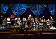 NEWTOWN, PA - OCTOBER 11:  Bucks County Community College Associate Music Professor Jeff Baumeister (on piano) and a group of musicians perform his modern jazz suite, Portraits from the Pub, before during the Bucks County Community College 50th Anniversary music premiere and art unveiling at the school's Gateway Auditorium October 11, 2014 in Newtown, Pennsylvania. (Photo by William Thomas Cain/Cain Images)