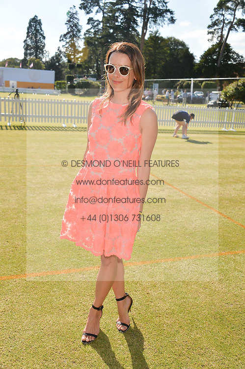 JULIET ANGUS at the Summer Solstice Party during the Boodles Tennis event hosted by Beulah London and Taylor Morris at Stoke Park, Park Road, Stoke Poges, Buckinghamshire on 21st June 2014.