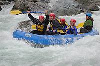 Whitewater rafting on the Skykomish River, Washington