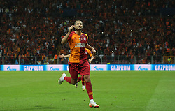 September 18, 2018 - °Stanbul, Türkiye - Galatasaray's Eren Derdiyok celebrate his goal during Galatasaray - Lokomotiv Moscow UEFA Champions League Game at Turk Telekom Arena, 18th of Sept. 2019. (Credit Image: © Tolga Adanali/Depo Photos via ZUMA Wire)