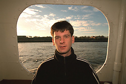 LIVERPOOL, ENGLAND - Liverpool band Space photographed on a Mersey Ferry in Liverpool. Andy Parle. (Pic by David Rawcliffe/Propaganda)