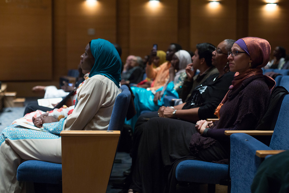 10/25/17 - Medford/Somerville, MA - Audience listen to the speakers at the Global Humanitarian Citizens Award sponsored by Tisch College in Distler Auditorium, on Oct. 25. (Sophie Dolan / The Tufts Daily)