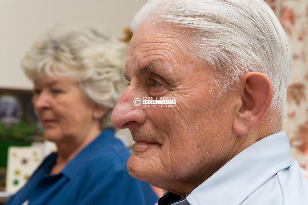 Portrait of elderly couple,