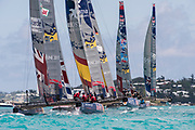 The Great Sound, Bermuda, 21st June 2017, Red Bull Youth America's Cup Finals. Race four.