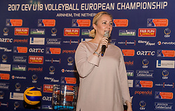 10-02-2017 NED:  Loting CEV U18 Europees Kampioenschap vrouwen, Arnhem<br /> In het Openluchtmuseum te Arnhem was de loting dat begin april in Arnhem wordt gehouden / CEV delegate Banu Can-Schurmann