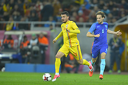 November 14, 2017 - Bucharest, Romania - Constantin Budescu (Rom) vies Daley Blind (Ned) during International Friendly match between Romania and Netherlands at National Arena Stadium in Bucharest, Romania, on 14 november 2017. (Credit Image: © Alex Nicodim/NurPhoto via ZUMA Press)