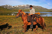 Ole Ingebrigt Dyrhaug and his father have for more than 30 years invited tourist to ride in the wild mountains of Mid-Norway. And they come, from Germany, England, Denmark, Sweden and other countries to experience the uniqe atmosphere of these desolate and magnificient wilderness.  All the horses are of the special islandic breed. Dyrhaug ridesenter, Ramsjøhytta. Ole Ingebrigt Dyrhaug.  .