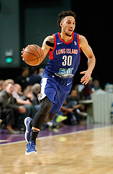 November 19, 2017 - Reno, Nevada, U.S - Long Island Nets Guard JEREMY SENGLIN (30) drives during the NBA G-League Basketball game between the Reno Bighorns and the Long Island Nets at the Reno Events Center in Reno, Nevada. (Credit Image: © Jeff Mulvihill via ZUMA Wire)