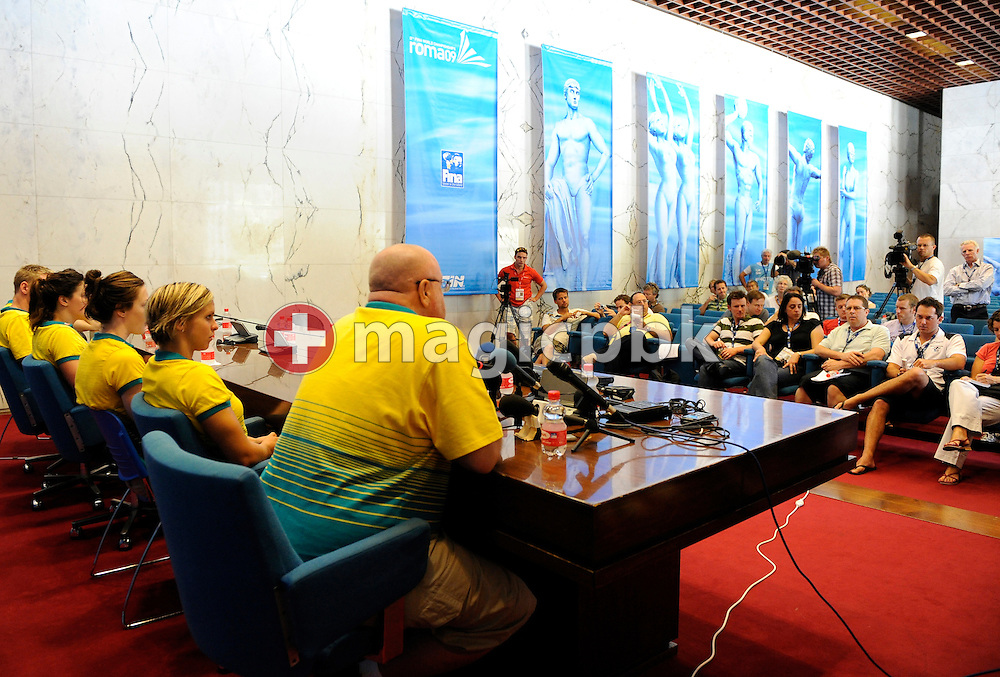 National head coach Alan THOMPSON of Australia talks to the media during the press conference of Swimming Australia at the 13th FINA World Championships at the Foro Italico complex in Rome, Italy, Thursday, July 23, 2009. (Photo by Patrick B. Kraemer / MAGICPBK)