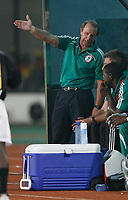 Photo: Steve Bond/Richard Lane Photography.<br />Nigeria v Mali. Africa Cup of Nations. 25/01/2008. Things are not going Bertie Vogts way