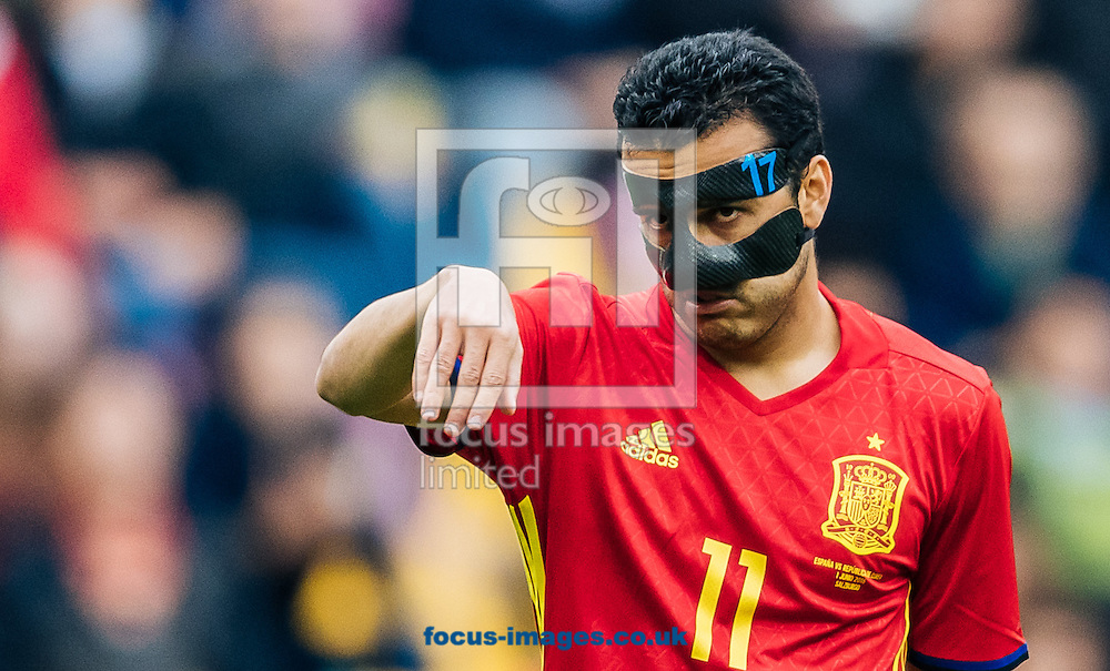 Pedro Rodriguez of Spain during the International Friendly match at Red Bull Arena, Salzburg<br /> Picture by EXPA Pictures/Focus Images Ltd 07814482222<br /> 01/06/2016<br /> ***UK &amp; IRELAND ONLY***<br /> (filename}