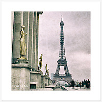 La Tour Eiffel, Paris, France - Colour version. Inkjet pigment print on Canson Infinity Rag Photographique 310gsm 100% cotton museum grade Fine Art and photo paper.<br />