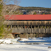 Albany Covered Bridge spanning ove the Swift River in Albany, NH