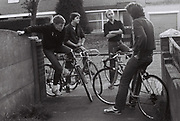 Boys on racing bikes, Greenford, London, UK, 1980s.