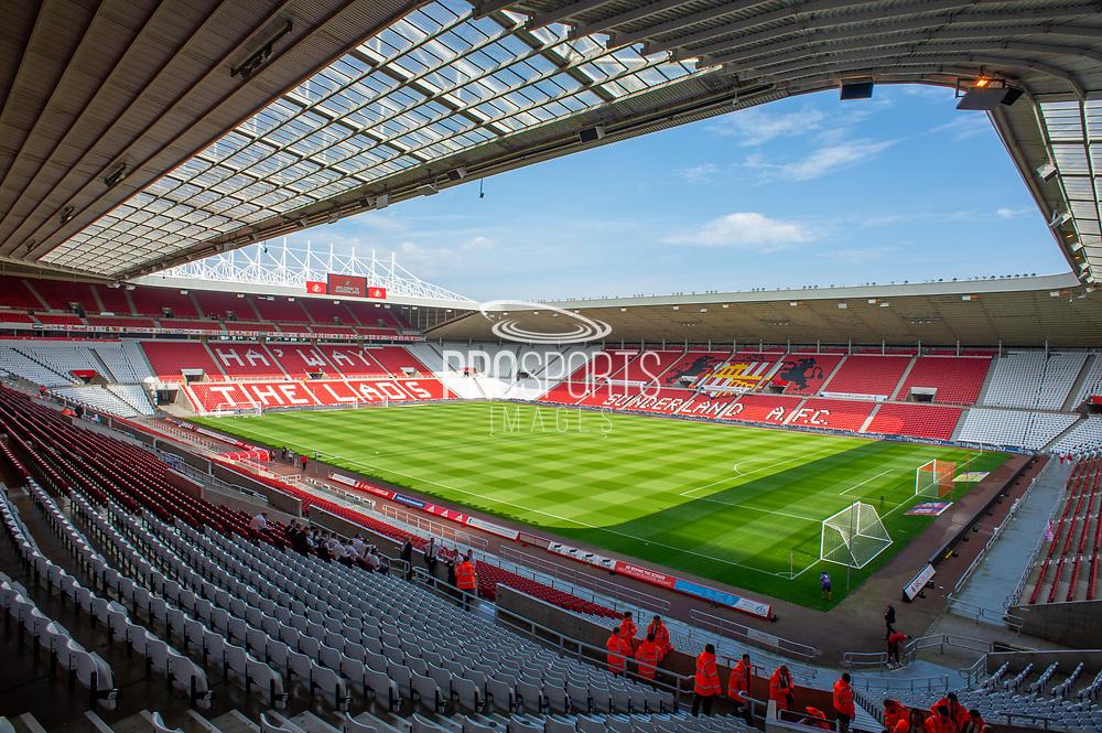 General view inside the Stadium of Light, Sunderland, England before the EFL Sky Bet League 1 match between Sunderland and AFC Wimbledon on 24 August 2019.