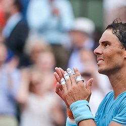 Rafael Nadal of Spain celebrates his victory during Day 15 for the French Open 2018 on June 10, 2018 in Paris, France. (Photo by Baptiste Fernandez/Icon Sport)
