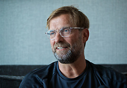 BOSTON, MASSACHUSETTS, USA - Sunday, July 21, 2019: Liverpool's manager Jürgen Klopp speaks to the Anfield Wrap ahead of a friendly against Seville on day six of the club's pre-season tour of America. (Pic by David Rawcliffe/Propaganda)