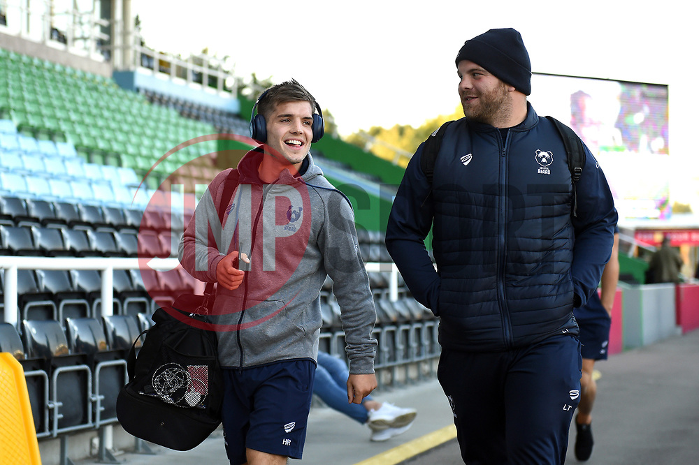 Harry Randall, Lewis Thiede and the rest of the Bristol Bears team arrive at the Stoop - Mandatory byline: Patrick Khachfe/JMP - 07966 386802 - 20/09/2019 - RUGBY UNION - The Twickenham Stoop - London, England - Harlequins v Bristol Bears - Premiership Rugby Cup