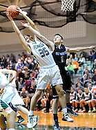 Pennridge's Ryan Cuthbert #35 fights for a rebound with Central Bucks South's Nate Robinson #1 in the first quarter Friday February 12, 2016 at Pennridge High School in Perkasie, Pennsylvania.  (Photo by William Thomas Cain)