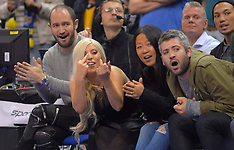 OCT 08 2014 Lady Gaga watching Global Games in Berlin