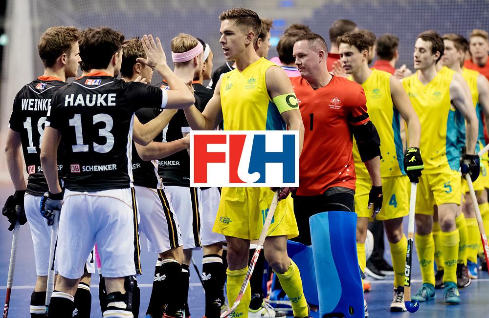 BERLIN - Indoor Hockey World Cup<br /> Men: Germany - Australia<br /> foto: Heath Ogilvie.<br /> WORLDSPORTPICS COPYRIGHT FRANK UIJLENBROEK