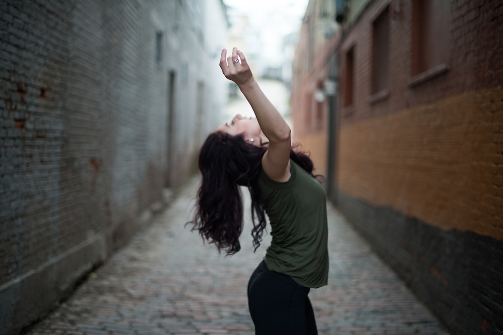 Undergraduate dance major Stephanie Lamoreau. Photo by Ben Wirtz Siegel