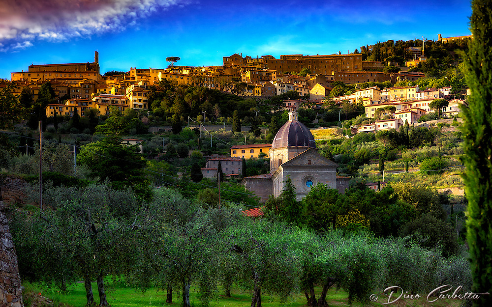 """Santa Maria delle Grazie di Cortona landscape""…<br />