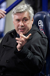 BOLTON, ENGLAND - Monday, January 24, 2011: Chelsea's manager Carlo Ancelotti during the Premiership match against Bolton Wanderers at the Reebok Stadium. (Photo by David Rawcliffe/Propaganda)