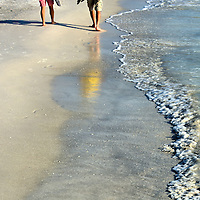 Romantic Stroll on Sand in Bradenton Beach, Florida<br />