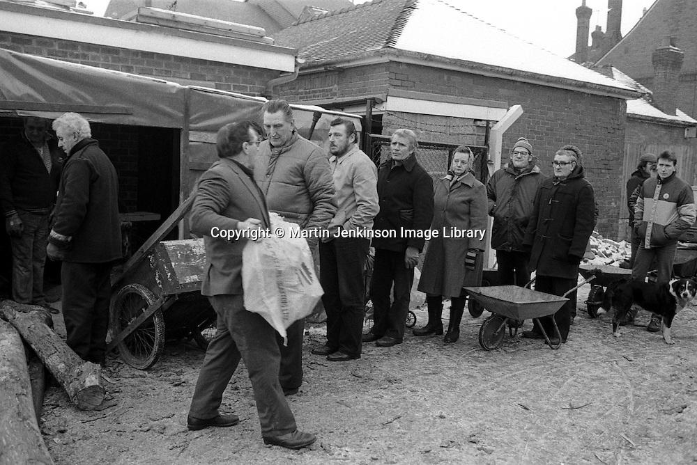 NUM woodyard at Armthorpe during the 1984-85 miners strike.