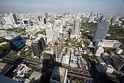 Downtown Bangkok, Lumbini Park and Sathorn Road seen from Banyan Tree Hotel's Vertigo Grill & Moon Bar on the 61st floor.
