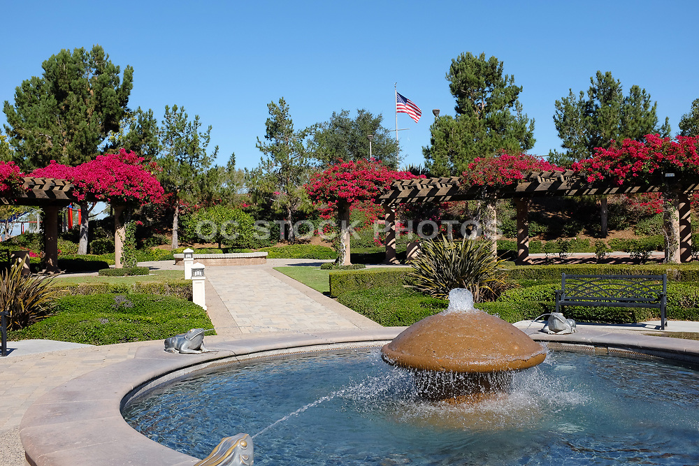 Fountain and Formal Garden at Bill Barber Park
