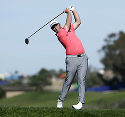 January 27, 2019 - San Diego, CA, USA - Jon Ram tees off on the 5th hole during the fourth round of the Farmers Insurance Open at the Torrey Pines Golf Course in San Diego on Sunday, Jan. 27, 2019. (Credit Image: © K.C. Alfred/San Diego Union-Tribune/TNS via ZUMA Wire)