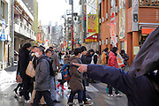 Chinatown Yokohama Japan street with crowd