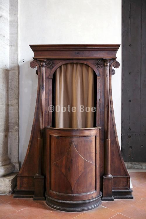 confessional in a church
