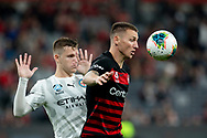 SYDNEY, AUSTRALIA - NOVEMBER 22: Western Sydney Wanderers forward Mitchell Duke (7) watches the ball during the round 7 A-League soccer match between Western Sydney Wanderers FC and Melbourne City FC on November 22, 2019 at Bankwest Stadium in Sydney, Australia. (Photo by Speed Media/Icon Sportswire)