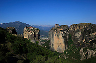The Monestery of the Holy Trinity and the  Monasteries of Meteora.<br />
