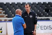 DESCRIZIONE : Trento Primo Trentino Basket Cup Nazionale Italia Maschile <br /> GIOCATORE : Simone Pianigiani Luca Dalmonte<br /> CATEGORIA : allenamento<br /> SQUADRA : Nazionale Italia <br /> EVENTO :  Trento Primo Trentino Basket Cup<br /> GARA : Allenamento<br /> DATA : 26/07/2012 <br /> SPORT : Pallacanestro<br /> AUTORE : Agenzia Ciamillo-Castoria/C.De Massis<br /> Galleria : FIP Nazionali 2012<br /> Fotonotizia : Trento Primo Trentino Basket Cup Nazionale Italia Maschile<br /> Predefinita :